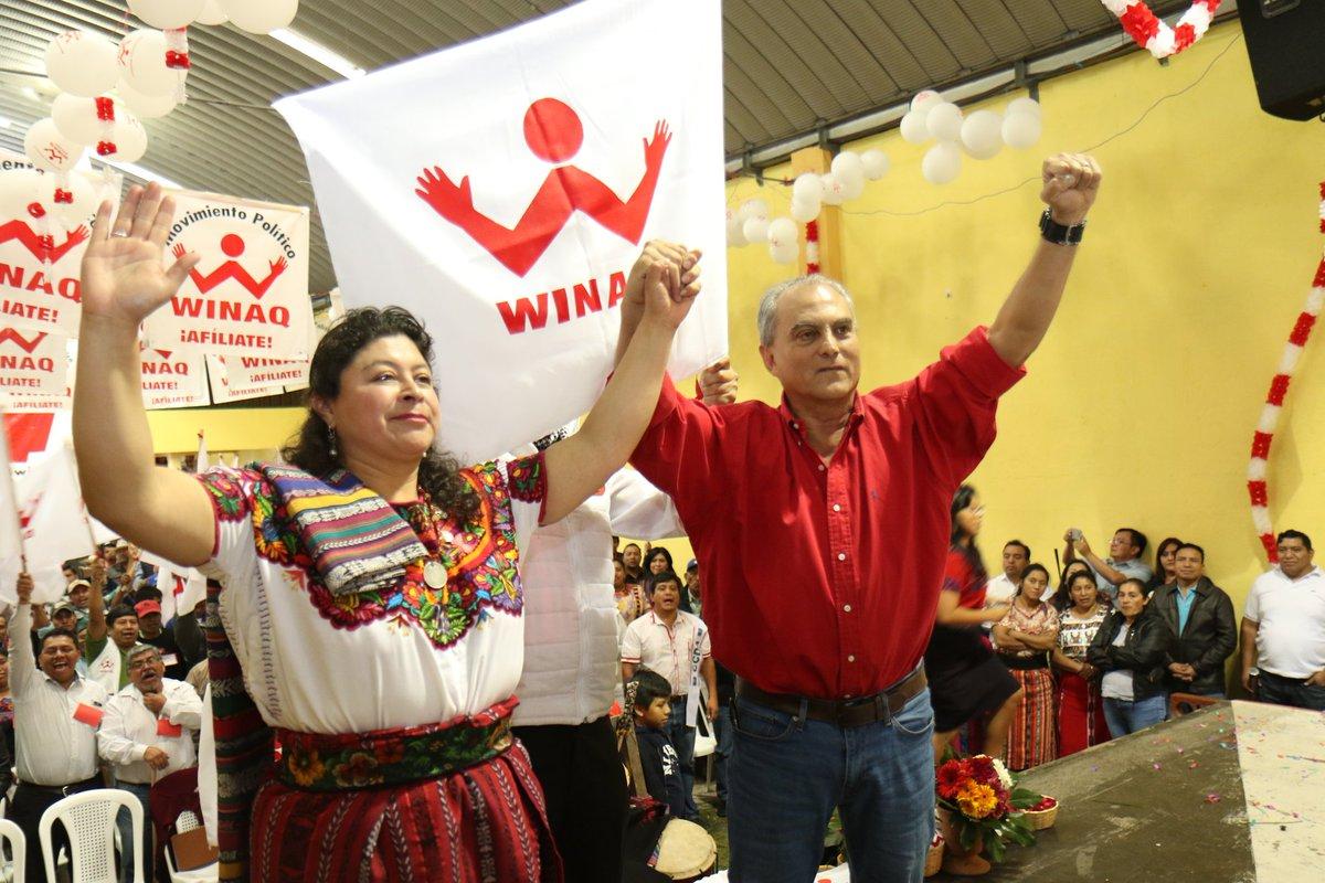 Binomio de Winaq: Manuel Villacorta y Lilian Hernández