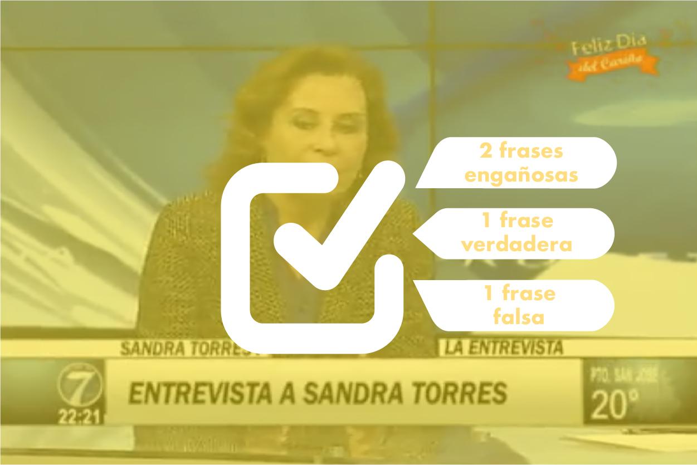 Resultados revisión de frases de Sandra Torres en entrevista