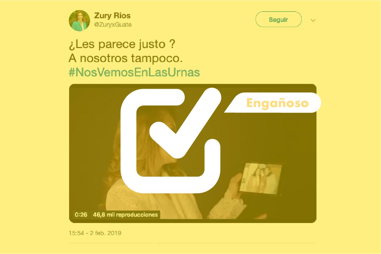 Denegatoria de inscripción a Zury Ríos no fue por fotografía