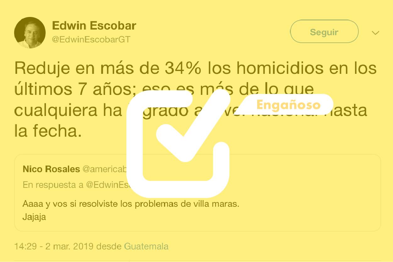 Es falso que en siete años bajaron 34% los homicidios en Villa Nueva