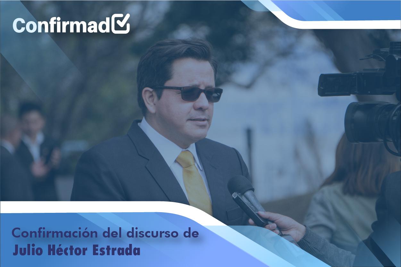 Confirmación del discurso de proclamación de Julio Héctor Estrada
