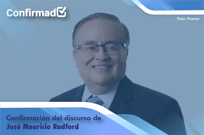 Confirmación del discurso de proclamación de Mauricio Radford
