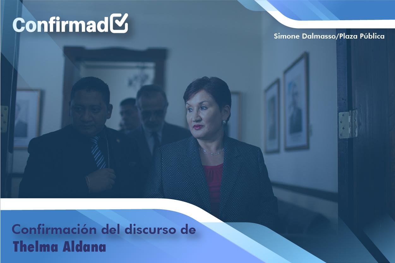 Confirmación del discurso de proclamación de Thelma Aldana