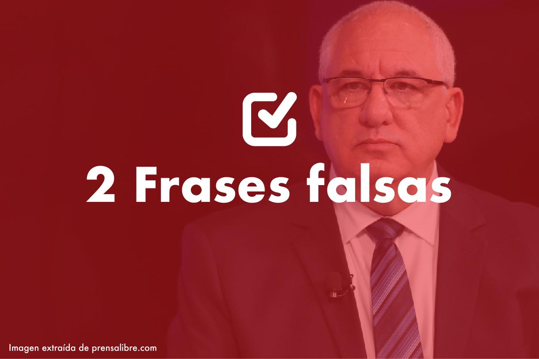 Dos frases falsas de Isaac Farchi