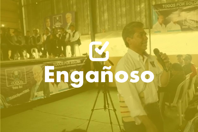 Fredy Cabrera y una propuesta engañosa en Soloma, Huehuetenango