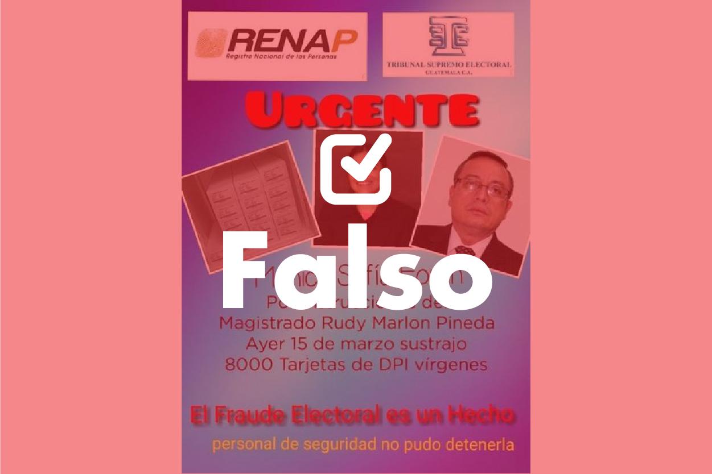 Información falsa sobre Renap surge en época electoral