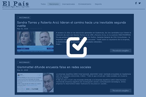 El País GT, una página web que promueve la imagen de Roberto Arzú