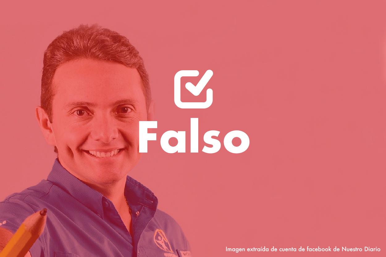Falso  El candidato a diputado Jorge García Silva no destapó la corrupción en la Fedefut