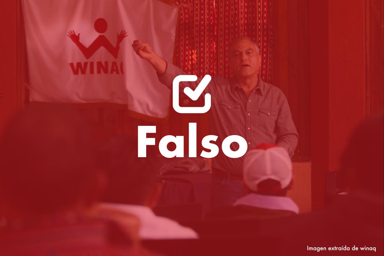 Falso| Manuel Villacorta: de cada 100 niños que inician la primaria solo 25 la terminan