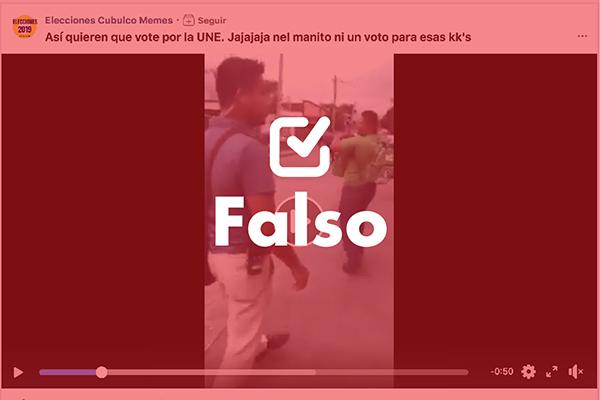 Es falso el video sobre supuesta agresión de simpatizantes de la UNE
