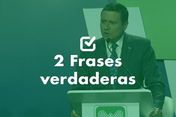 Dos frases verdaderas de Carlos Raúl Morales, vicepresidenciable de la UNE