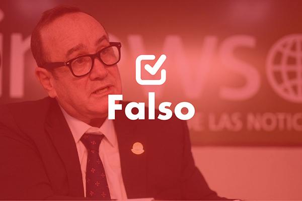 Una frase falsa de Alejandro Giammattei sobre la disolución de la SAAS