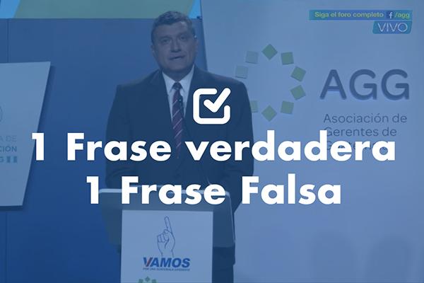 Una frase falsa y una verdadera de Guillermo Castillo, vicepresidenciable de Vamos