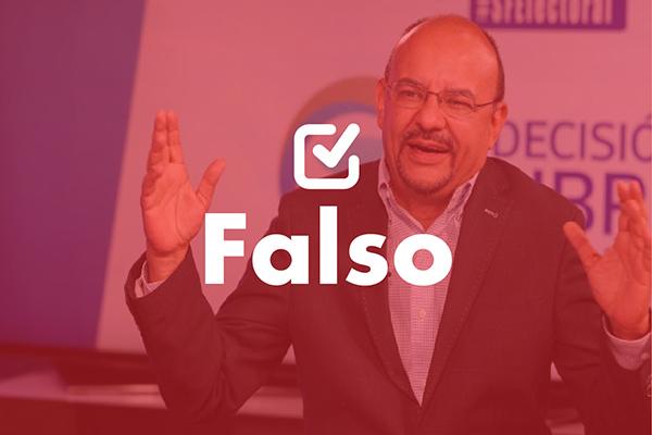 Una frase falsa del candidato presidencial de Encuentro por Guatemala