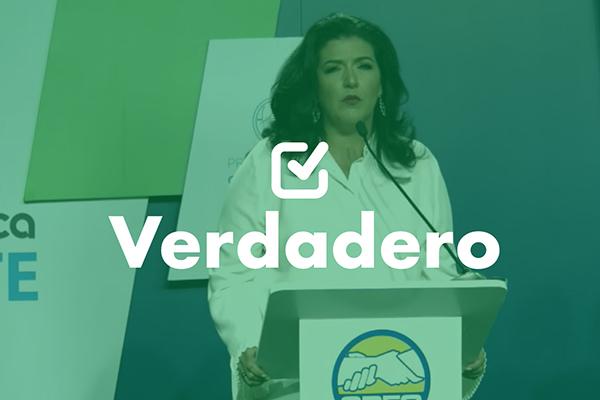 Una frase verdadera de Yara Argueta durante debate vicepresidencial