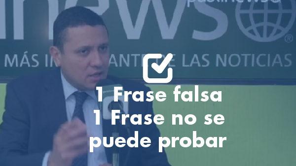 Un dato falso y uno que no se puede probar de Carlos Raúl Morales