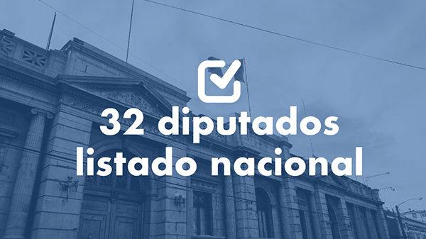 Estos son los 32 diputados que llegan al Congreso por listado nacional
