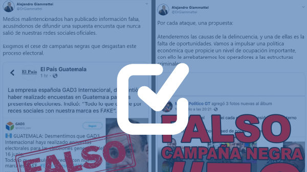 Perfiles de redes sociales buscan desacreditar a Giammattei
