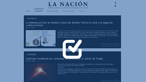 Sitio web se reactiva en segunda vuelta y resalta imagen de Sandra Torres