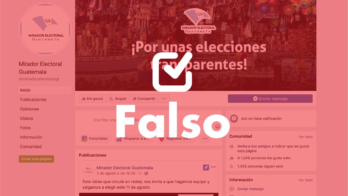 En Facebook usurpan nombre de Mirador Electoral