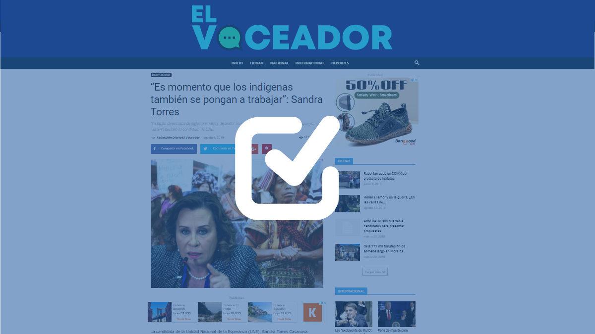 El Voceador: sitio web que ataca a Sandra Torres