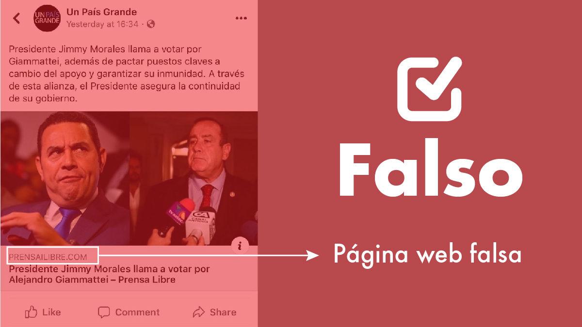 Crean página falsa de Prensa Libre para desinformar y engañar